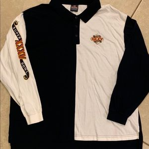 2001 NFL Super Bowl XXXV LS Polo Shirt. XXL